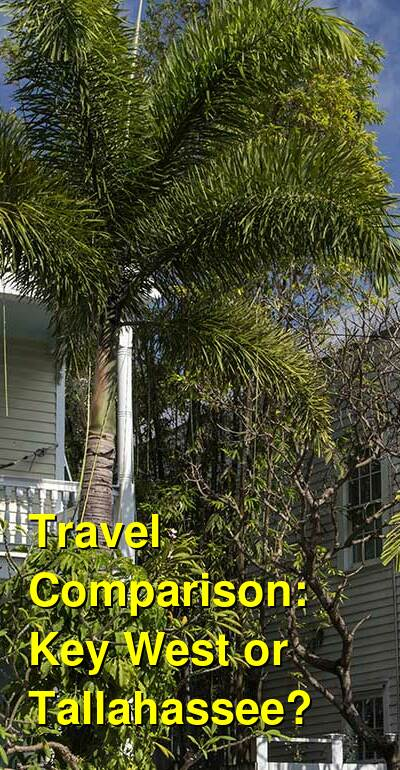 Key West vs. Tallahassee Travel Comparison