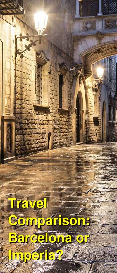 Barcelona vs. Imperia Travel Comparison