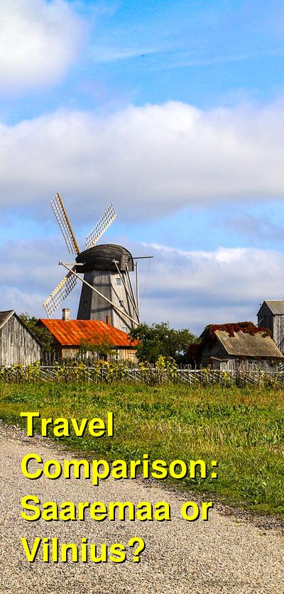 Saaremaa vs. Vilnius Travel Comparison