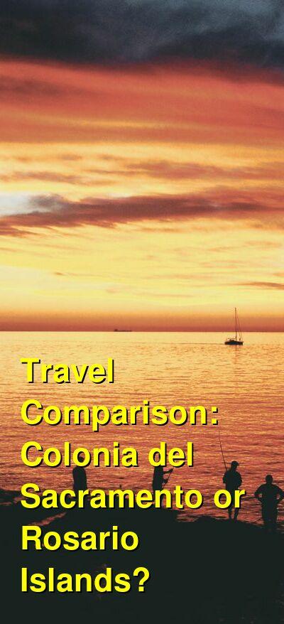 Colonia del Sacramento vs. Rosario Islands Travel Comparison