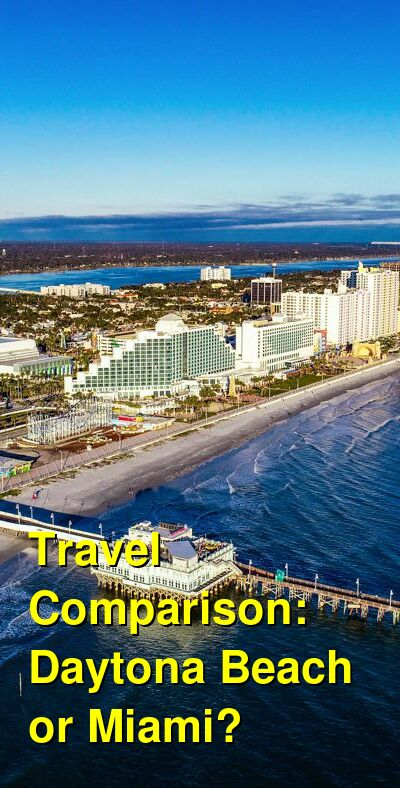 Daytona Beach vs. Miami Travel Comparison