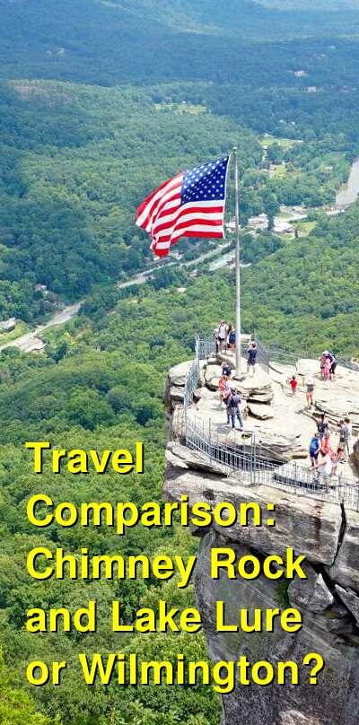 Chimney Rock and Lake Lure vs. Wilmington Travel Comparison