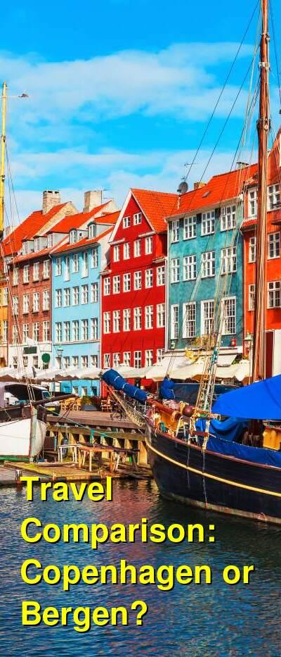 Copenhagen vs. Bergen Travel Comparison