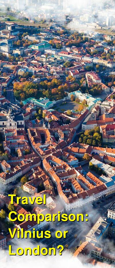 Vilnius vs. London Travel Comparison