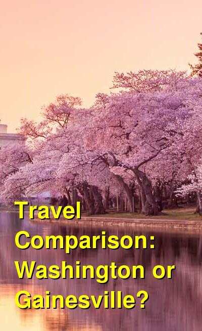 Washington vs. Gainesville Travel Comparison