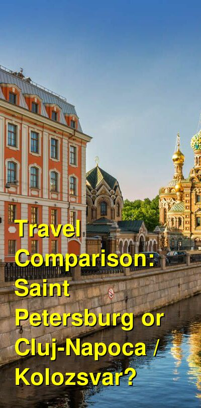 Saint Petersburg vs. Cluj-Napoca / Kolozsvar Travel Comparison