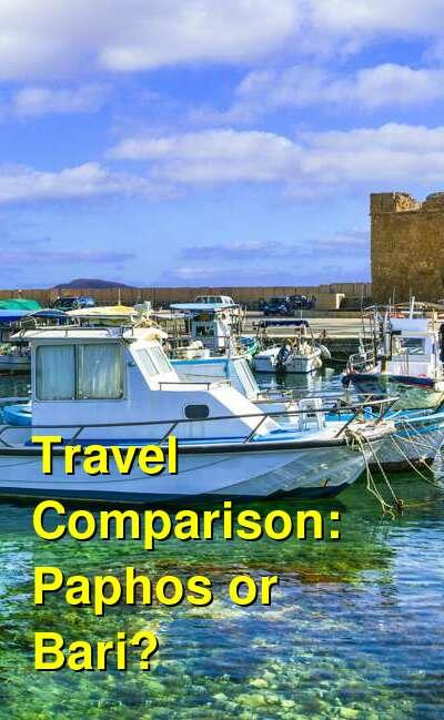 Paphos vs. Bari Travel Comparison