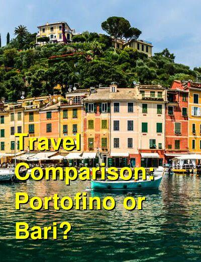 Portofino vs. Bari Travel Comparison