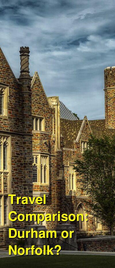 Durham vs. Norfolk Travel Comparison