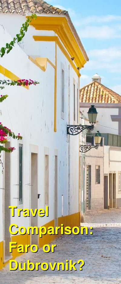 Faro vs. Dubrovnik Travel Comparison