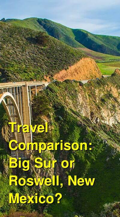 Big Sur vs. Roswell, New Mexico Travel Comparison