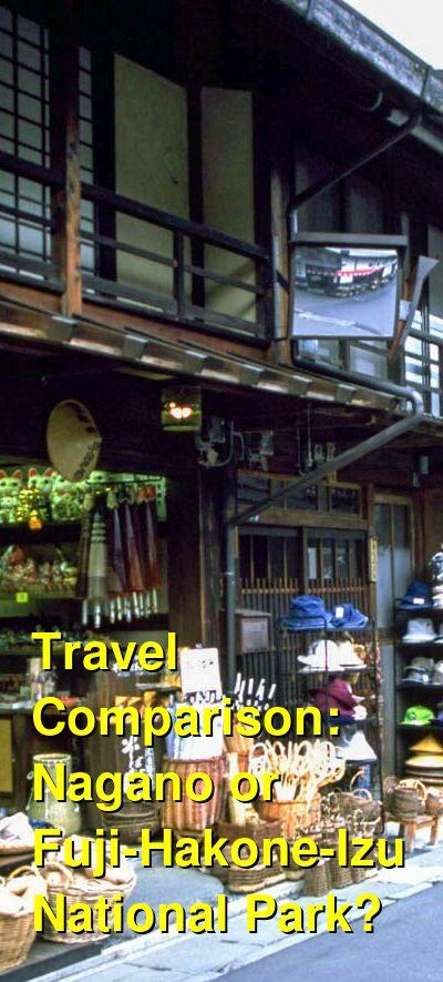 Nagano vs. Fuji-Hakone-Izu National Park Travel Comparison