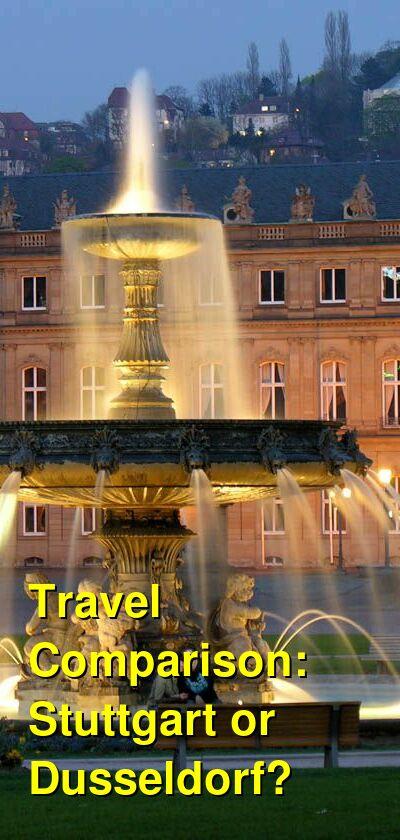 Stuttgart vs. Dusseldorf Travel Comparison