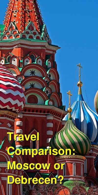 Moscow vs. Debrecen Travel Comparison