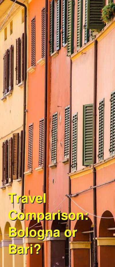 Bologna vs. Bari Travel Comparison