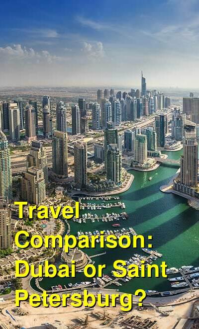 Dubai vs. Saint Petersburg Travel Comparison