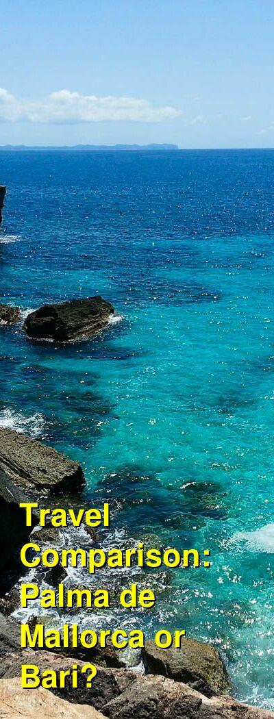Palma de Mallorca vs. Bari Travel Comparison