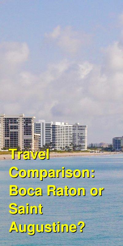 Boca Raton vs. Saint Augustine Travel Comparison