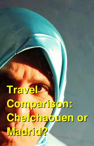 Chefchaouen vs. Madrid Travel Comparison