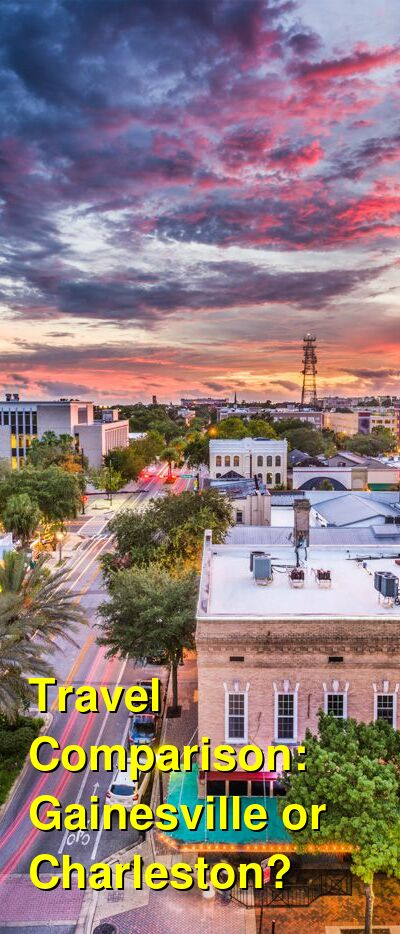 Gainesville vs. Charleston Travel Comparison