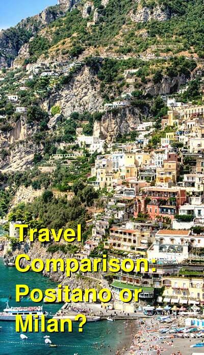 Positano vs. Milan Travel Comparison