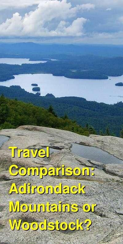 Adirondack Mountains vs. Woodstock Travel Comparison