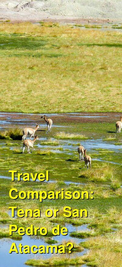 Tena vs. San Pedro de Atacama Travel Comparison