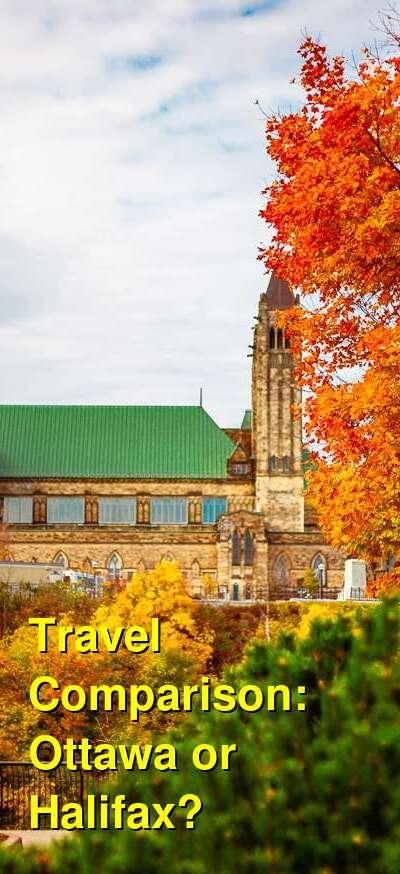 Ottawa vs. Halifax Travel Comparison