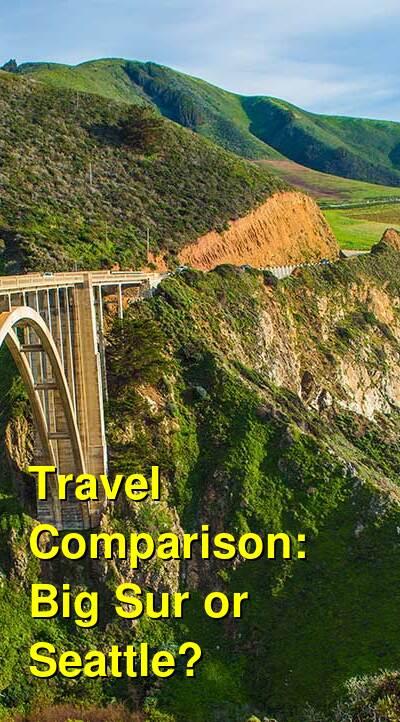 Big Sur vs. Seattle Travel Comparison
