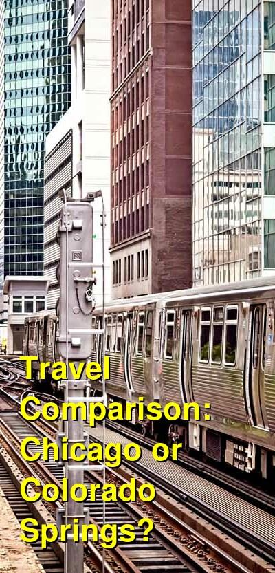 Chicago vs. Colorado Springs Travel Comparison