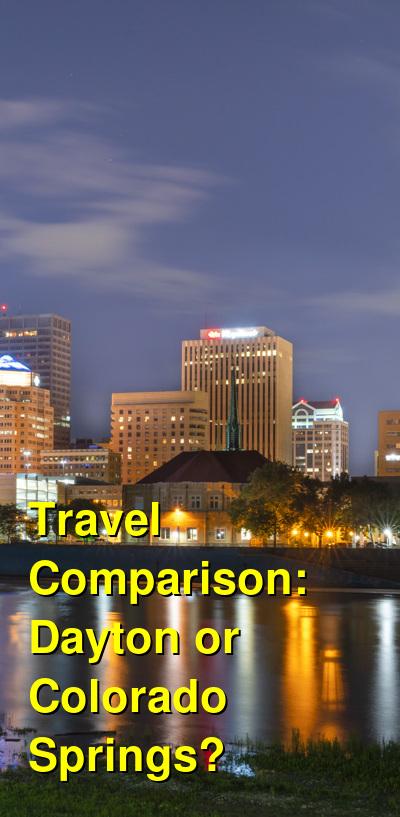 Dayton vs. Colorado Springs Travel Comparison
