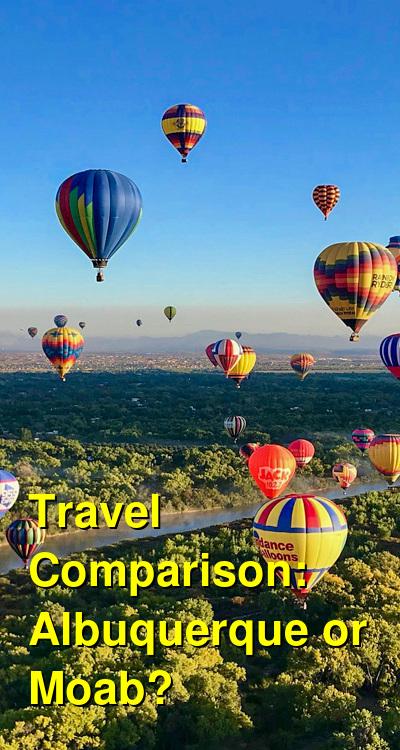 Albuquerque vs. Moab Travel Comparison