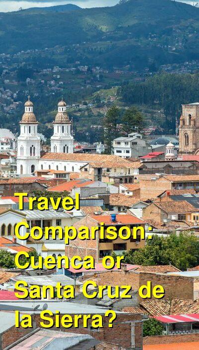 Cuenca vs. Santa Cruz de la Sierra Travel Comparison