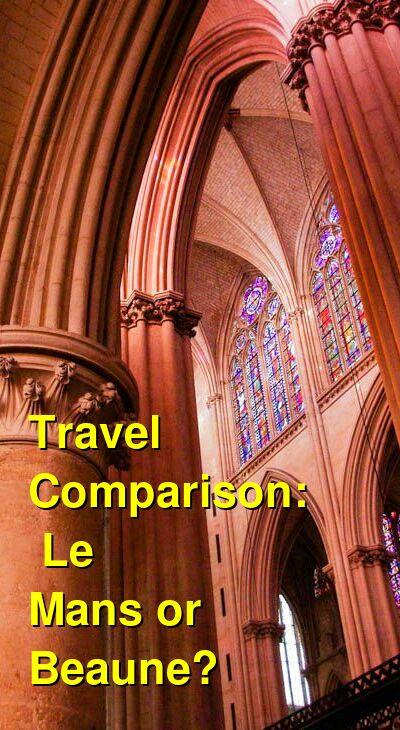 Le Mans vs. Beaune Travel Comparison