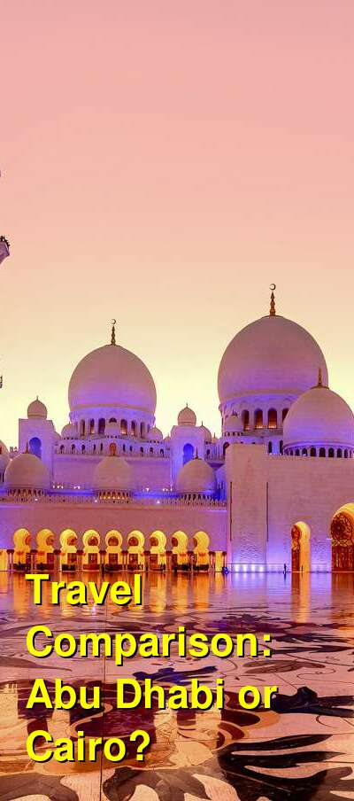 Abu Dhabi vs. Cairo Travel Comparison