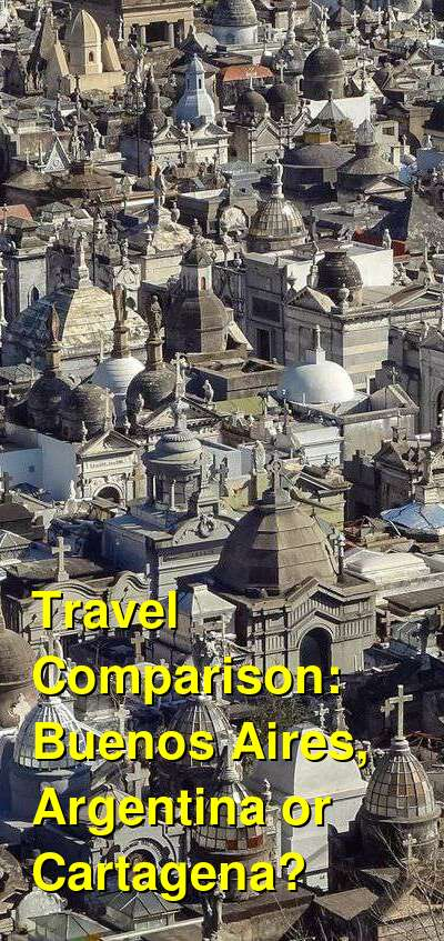Buenos Aires, Argentina vs. Cartagena Travel Comparison