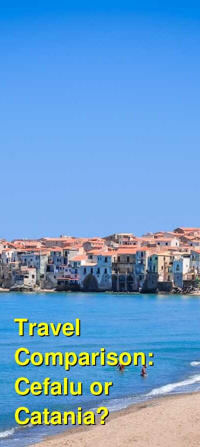 Cefalu vs. Catania Travel Comparison