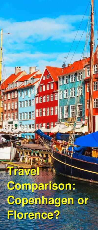 Copenhagen vs. Florence Travel Comparison