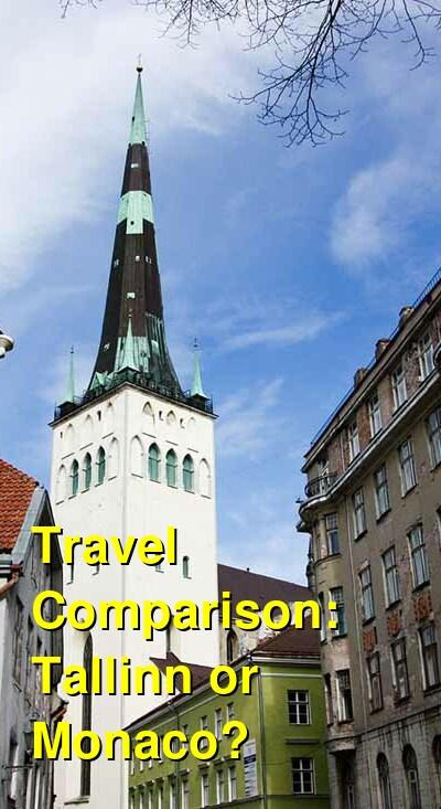 Tallinn vs. Monaco Travel Comparison