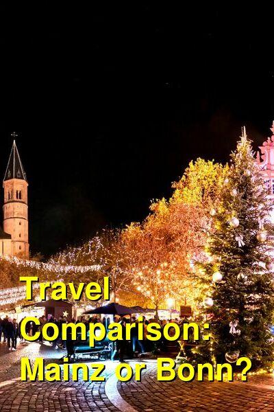 Mainz vs. Bonn Travel Comparison