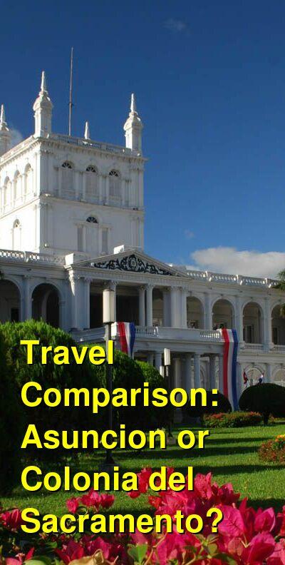 Asuncion vs. Colonia del Sacramento Travel Comparison