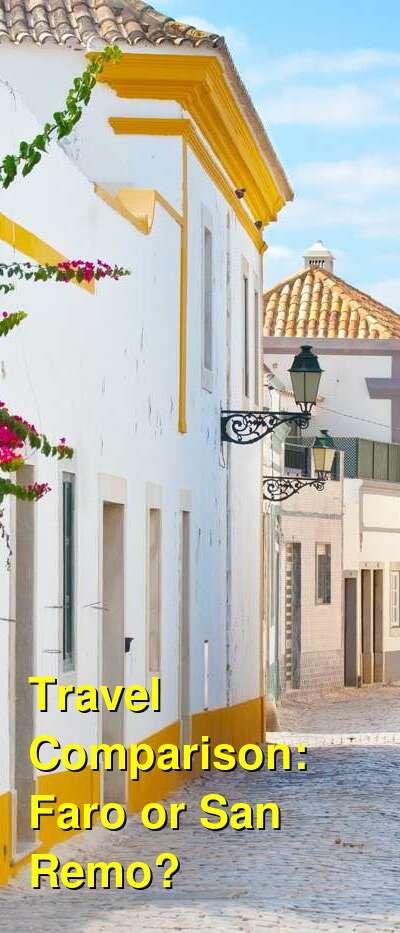 Faro vs. San Remo Travel Comparison