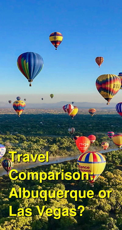 Albuquerque vs. Las Vegas Travel Comparison