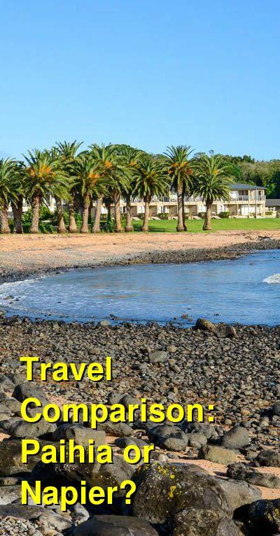 Paihia vs. Napier Travel Comparison