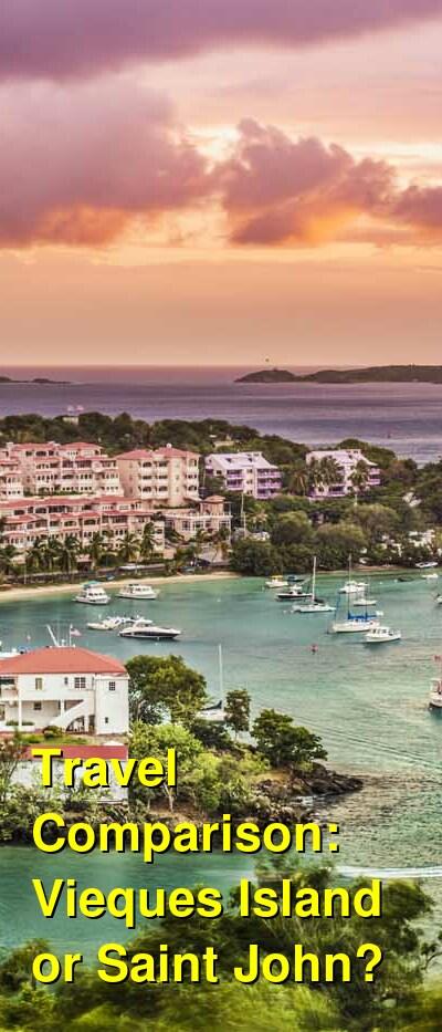 Vieques Island vs. Saint John Travel Comparison