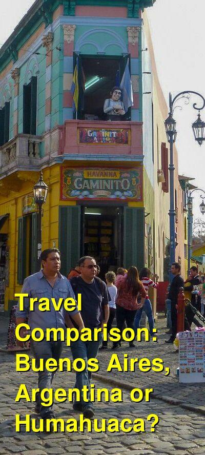 Buenos Aires, Argentina vs. Humahuaca Travel Comparison
