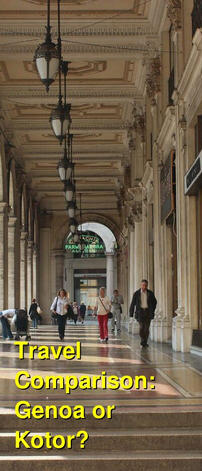 Genoa vs. Kotor Travel Comparison