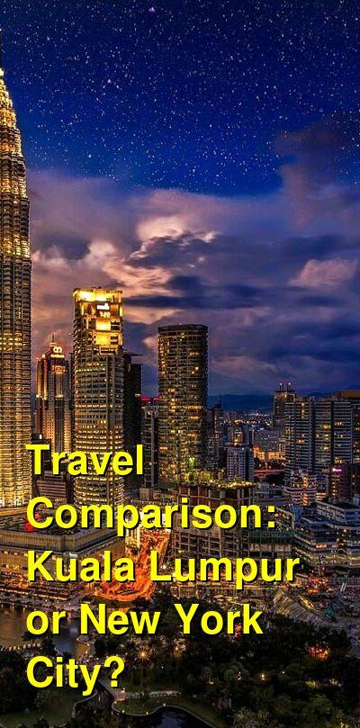 Kuala Lumpur vs. New York City Travel Comparison