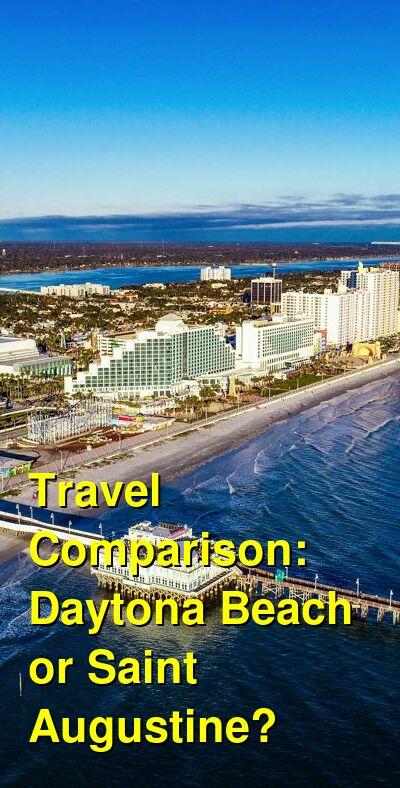 Daytona Beach vs. Saint Augustine Travel Comparison