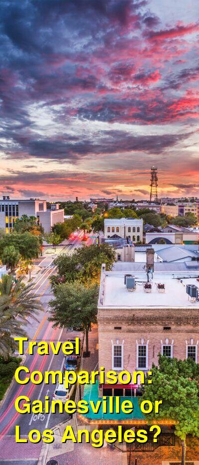 Gainesville vs. Los Angeles Travel Comparison